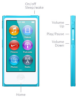 Learn simple control iPod nano